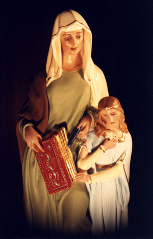 Saint Anne and The Virgin Mary Statue